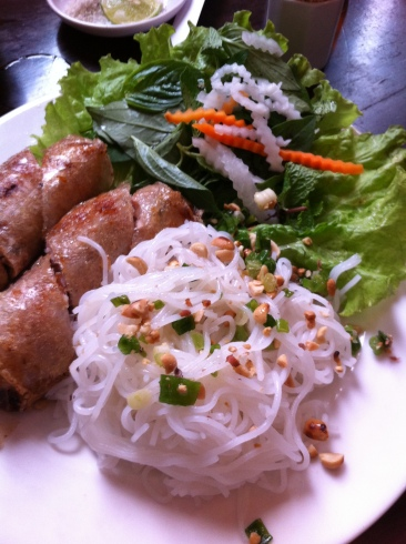 Another version of spring rolls in Ho Chi Minh