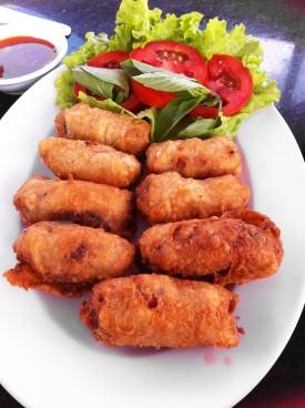 One version of spring rolls in Dalat
