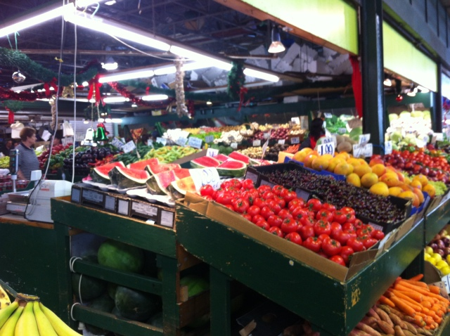 Colours of summer fruit at Preston Markets