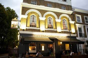 The Stonemasons Arms - my first gastro pub experience in Hammersmith, London.