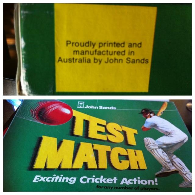 Vintage John Sands Test Match Cricket Board Game - Made in Australia!!!